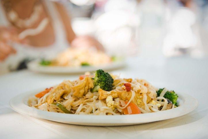 Vegetarian pad thai. Deep fried tofu makes me smile.