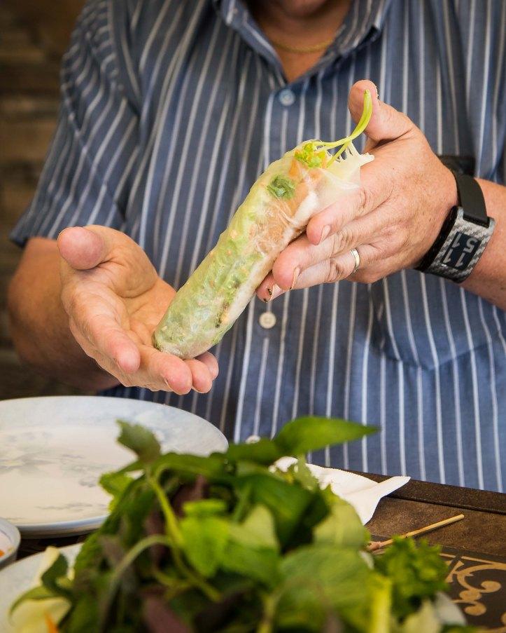 John's first roll. An edible masterpiece!