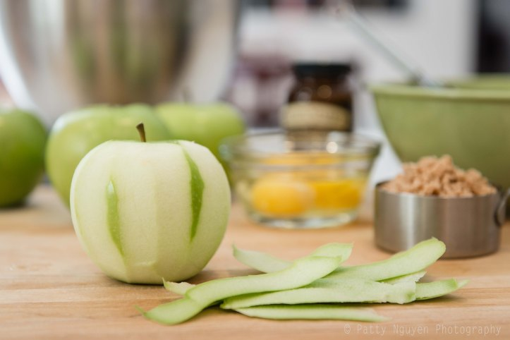 Peeling apples is fun.