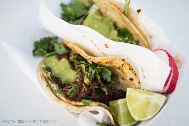 Tacos de adobada -- Chando's Tacos.