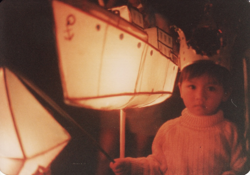 Here I am in 1985, at age 3, celebrating the Moon Festival at our refugee camp in Galang Island, Indonesia.