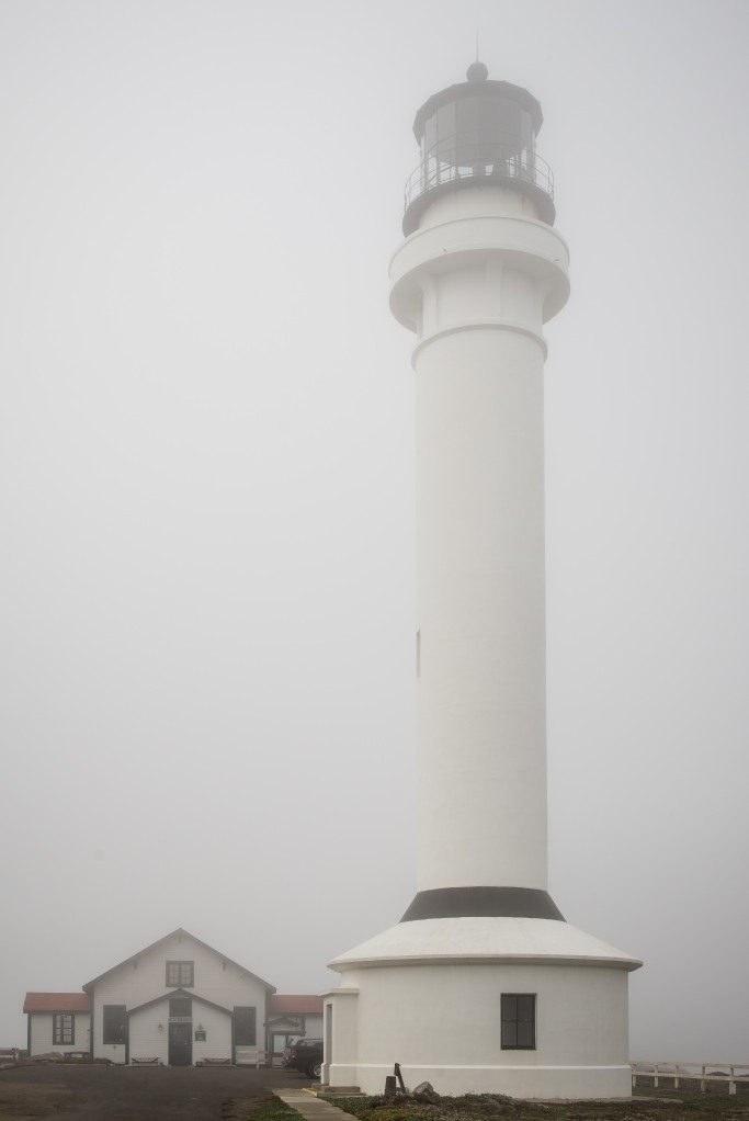 We took a drive down to the Point Arena Lighthouse. The visibility was rather poor!