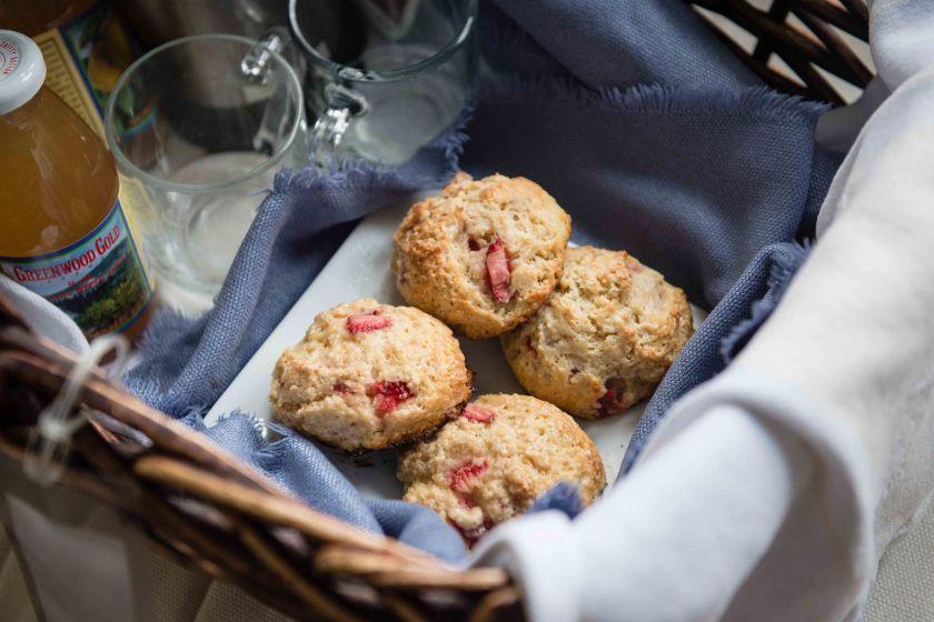 Elaine's strawberry scones. Delish!