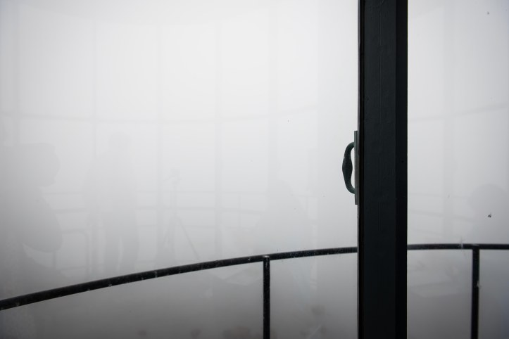 This was our view from the top of the lighthouse. Fog, fog everywhere. This happened two years ago when we visited the lighthouse for the first time. It's just not meant to be.