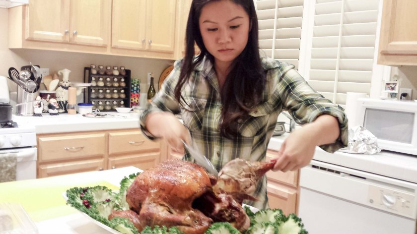 My turkey carving face. I don't play, ya'll.