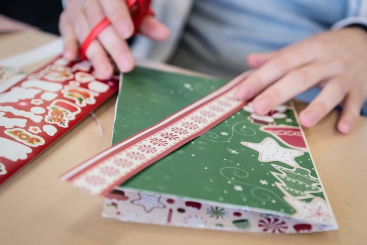 These cards are a great creative outlet for the kids, especially since we don't have an art class.