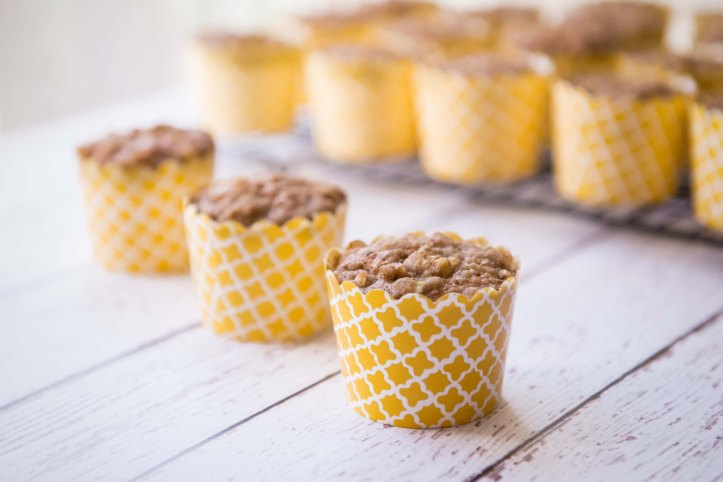 These muffin liners are cute, but not very easy to remove after baking.