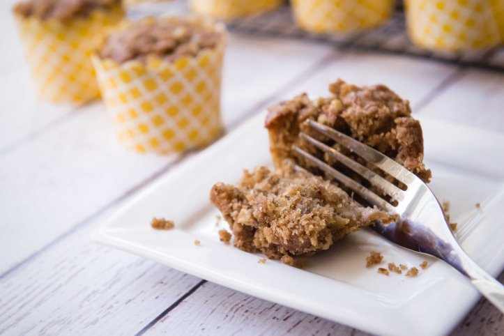 The slightly sweet and crunchy topping adds a delicious touch.