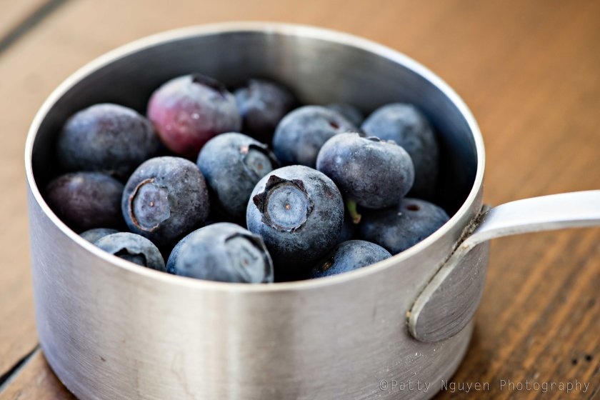 Sometimes I eat a bowl of frozen blueberries as a snack.
