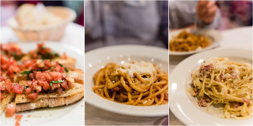 Piazza Italia 1129 NW Johnson Street Pictured:  Bruschetta, Bucatini all'Amatriciana, Linguine Squarciarella The bruschetta was the best part of the meal. The pasta was average, and although I am a big fan of salt, they were a tad on the salty side for me. Another example of how Yelp and I have differing opinions. :)
