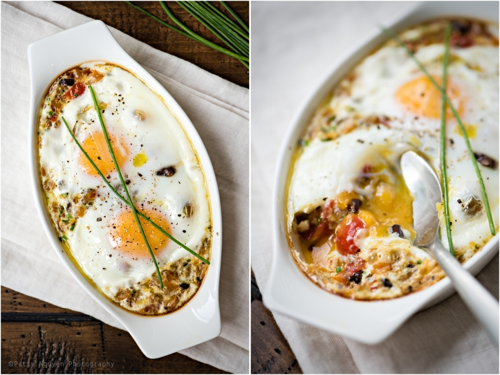 With two eggs baked on top! Yum!